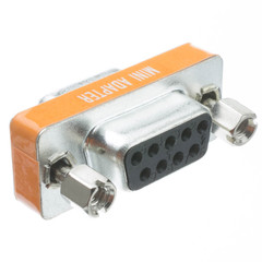 Mini Null Modem Adapter, DB9 Female to DB9 Female - Part Number: 31D1-28400