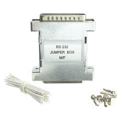 RS-232 Jumper Box, DB25 Male to DB25 Female - Part Number: 31D3-44200