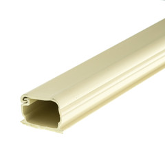 1.75 inch Surface Mount Cable Raceway, Ivory, Straight 6 foot Section - Part Number: 31R3-000IV
