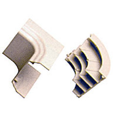 Cable Raceway, White, Inside Corner for Multi-Channel 4 inch Raceway - Part Number: 31R4-019WH