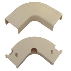 3/4 inch Surface Mount Cable Raceway, Ivory, Flat 90 Degree Elbow - Part Number: 31R1-001IV