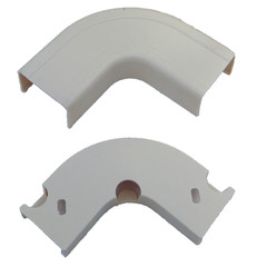 1.25 inch Surface Mount Cable Raceway, White, Flat 90 Degree Elbow - Part Number: 31R2-001WH