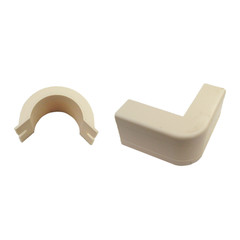 1.25 inch Surface Mount Cable Raceway, Ivory, Outside Elbow, 90 Degree - Part Number: 31R2-007IV