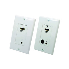 Wall Plate, HDMI Extender Over Dual Cat5e / Cat6 With Power, 50 meter Working Distance - Part Number: 31V3-24000