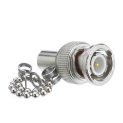 RG58 BNC Male Terminator with Chain, 50 Ohm - Part Number: 31X1-03500