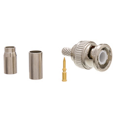 RG58 Stranded BNC Connector, 3 Piece Set - Part Number: 31X1-06500