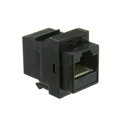 Cat6 Keystone Inline Coupler, Black, RJ45 Female - Part Number: 326-220BK