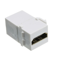 Keystone Insert, White, HDMI Female Coupler - Part Number: 329-00400WH