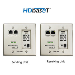 Wall Plate, HDMI Extender Over HDBaseT, Work Distance 100 meter (330 feet) - Part Number: 32V3-22200