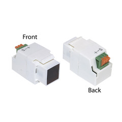 Keystone Insert, White, IR Dual Band IR Receiver - Part Number: 332-100