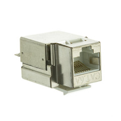Shielded Cat6a Keystone Jack, RJ45 Female to 110 Punch Down - Part Number: 33X6-520