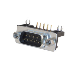 DB9 Male Right Angle Connector, Solder Type - Part Number: 3530-11009