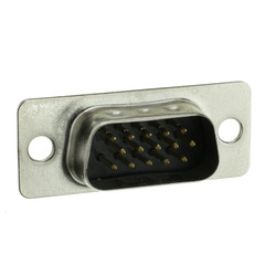 HD15 (VGA) Male Connector, Solder Type - Part Number: 3530-11115