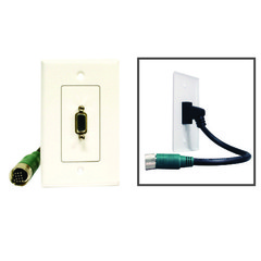 EZ Pull Video Wall Plate, Green Male to VGA (HD15) Female - Part Number: 35H1-05100