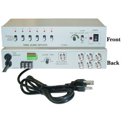 6 Channel Security/CCTV BNC Video Switcher with Audio Alarm - Part Number: 40A1-90600