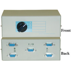 ABCD 4 Way Switch Box, DB9 Female - Part Number: 40D1-10604