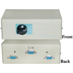 AB 2 Way Switch Box, HD15 (VGA) Female - Part Number: 40H1-03602