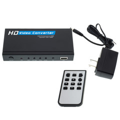 VGA or Component Video Plus 3.5mm Stereo Audio to HDMI Converter/Upscaler, HD15 or 3 RCA Female (RGB) and 3.5 mm Female to HDMI Female - Part Number: 40H1-40400