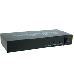 VGA or Component Video with RCA Stereo Audio to HDMI Converter/Upscaler - Part Number: 40H1-40400