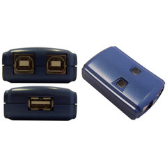 USB 2.0 Device Sharing Switch, 2 Computer To 1 USB Device - Part Number: 40SW-22100