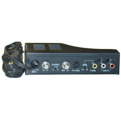 RF Modulator with S-Video, Composite Audio/Video RCA / S-Video to F-pin Coaxial, Channel 3/4 Selector - Part Number: 40X3-30400