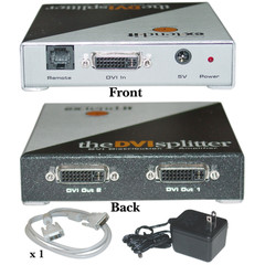 Gefen 2 Way DVI Splitter and Distribution Amplifier for PC, Dual Link - Part Number: 41H1-144DV