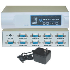 VGA Video Splitter, 1 PC to 8 Monitors, 400MHZ - Part Number: 41H1-14818