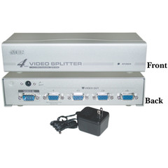 VGA Video Splitter 1 PC to 4 Monitors 250MHz - Part Number: 41H1-27604