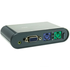KVM Switch, 2 Port, VGA, PS/2 and Audio, Includes 6 foot Cables - Part Number: 41KV-21002