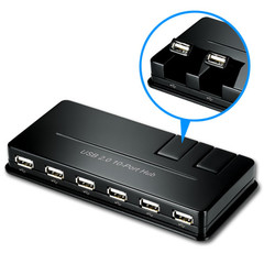 10 port USB 2.0 Hi-Speed Desktop Hub