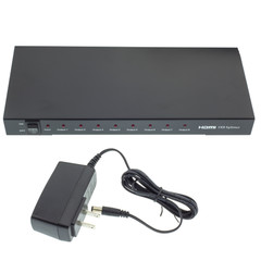 4k HDMI Splitter, 1 HDMI Female Input x 8 HDMI Female Output, 1x8 - Part Number: 41V3-08100