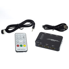 HDMI Switch, 5 way, 5x1, HDMI High Speed with Ethernet, Metal Housing - Part Number: 41V3-15100