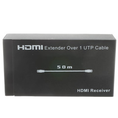 HDMI Extender over Cat6 with Power, Working Distance 50 meter - Part Number: 41V3-24000