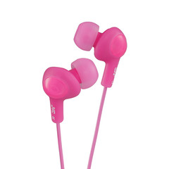 JVC Gumy Plus Inner-Ear Earbuds, Pink - Part Number: 5002-102PK