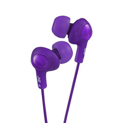 JVC Gumy Plus Inner-Ear Earbuds, Violet - Part Number: 5002-102PU