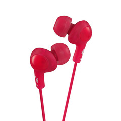 JVC Gumy Plus Inner-Ear Earbuds, Red - Part Number: 5002-102RD
