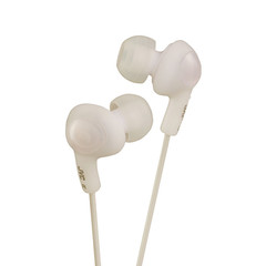 JVC Gumy Plus Inner-Ear Earbuds, White - Part Number: 5002-102WH