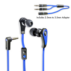 Premium In-Ear Stereo Hands-Free Headphones w/ In-Line Microphone for Smart Phones, Ocean Blue - Part Number: 5002-10300BL
