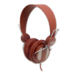 Lightweight Headset with Built-in Slim In-line Microphone, Brown, (iPhone, Smartphone and Computer) - Part Number: 5002-20300BR