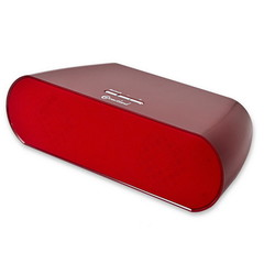 Bluetooth Speakers, Red, Powered by 8x AA Batteries or Included 12V Power Adapter, 10 meter/33 foot Range - Part Number: 5002-30100RD