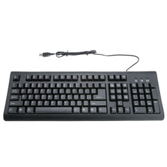 USB Keyboard, Black, Standard 107 Key - Part Number: 5012-107BK