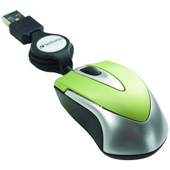 Mini Optical Travel Mouse, USB, Green - Part Number: 50M1-01240