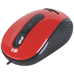Optical Mouse, Red, USB - Part Number: 50M1-02110