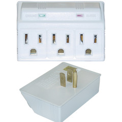 Surge Protector, 3 Outlet, MOV 270 Joules LED Power Indicator - Part Number: 50W1-905304