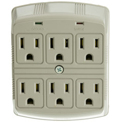 Surge Protector, 6 Outlet, MOV 370 Joules - Part Number: 50W1-905307