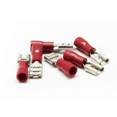 Quick Disconnect Female Spade, Red, 16 AWG - 22 AWG, Electrical Wire Connection, 100 Pieces - Part Number: 55TR-10021