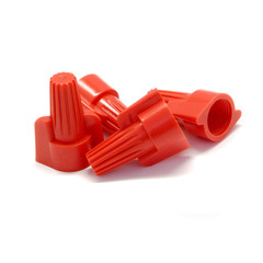 Twist Wire Connectors, Red, 8 AWG - 18 AWG, 12mm, 100 Pieces - Part Number: 55TS-10200