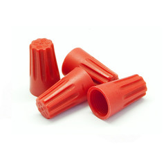 Red Twist Wire Connectors, 14 AWG - 22 AWG, 13mm, 100 Pieces - Part Number: 55TS-20300