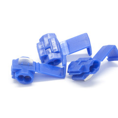 Quick Splice Connector, Blue, 14 AWG - 16 AWG, 100 Pieces - Part Number: 55TS-30200