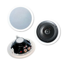 8 inch 2-way Ceiling Speakers, 120W max, 8 ohm, Pair - Part Number: 60HT-10108